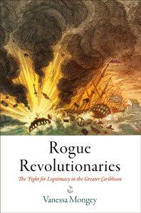 Portada del libro Revolucionarios rebeldes de Vanessa Mongey. Barco explotando en el mar